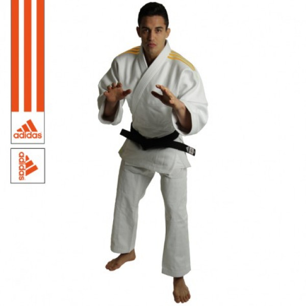 Judo Gi Adidas - Quest J690 -Vit/Orange