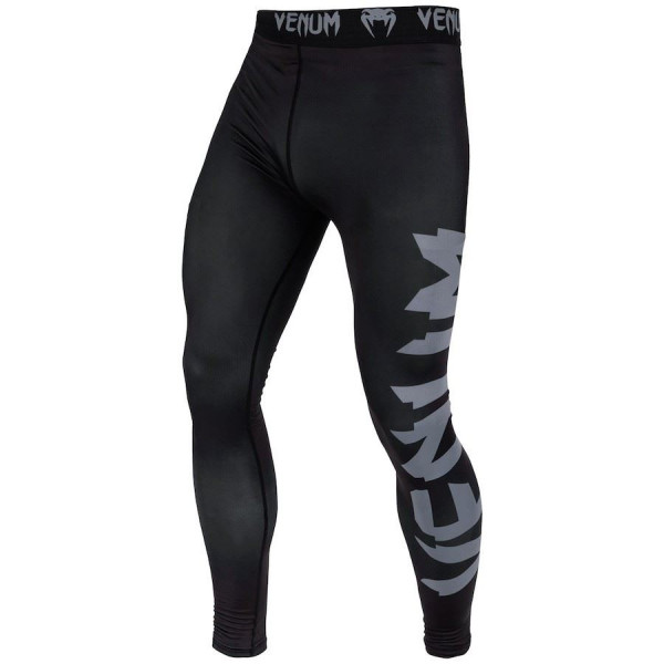 Grappling Tights - Venum Spats - Giant Sort/Grå
