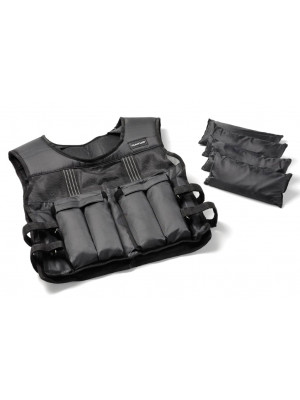 Vægtvest - Tunturi - Adjustable Weighted Vest - Justerbar - 15kg.