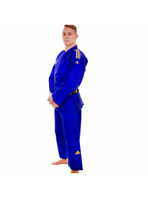 Judo Uniform - Adidas Judo - 'Champion 2.0' - Blå/Gul - Slim Fit