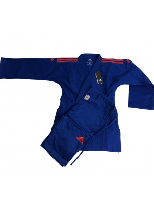 Adidas judo gi - Champion 2.0 - IJF Red Label - Blå / Rød - Slim Fit