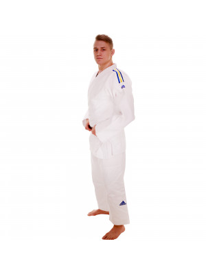 IJF Adidas Judo GI - Champion 2.0 - Red Label - Vit - Slim Fit Sweden Edition