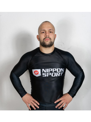 Rash Guard - Nippon Sport - 'Long sleeves' - Svart